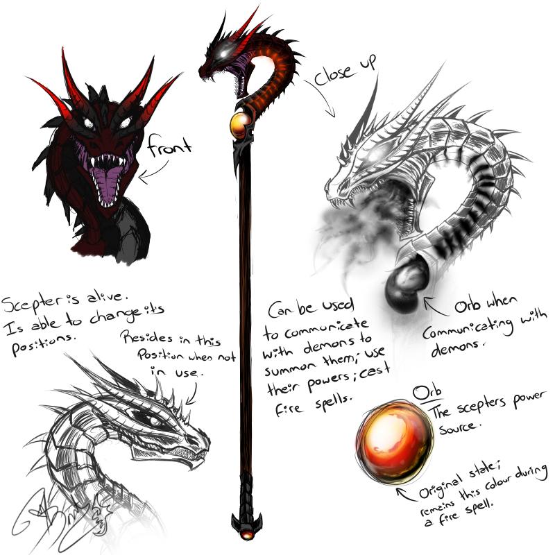 Dragon headed scepter