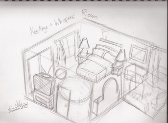 Character Drawcember Week 2 - Room
