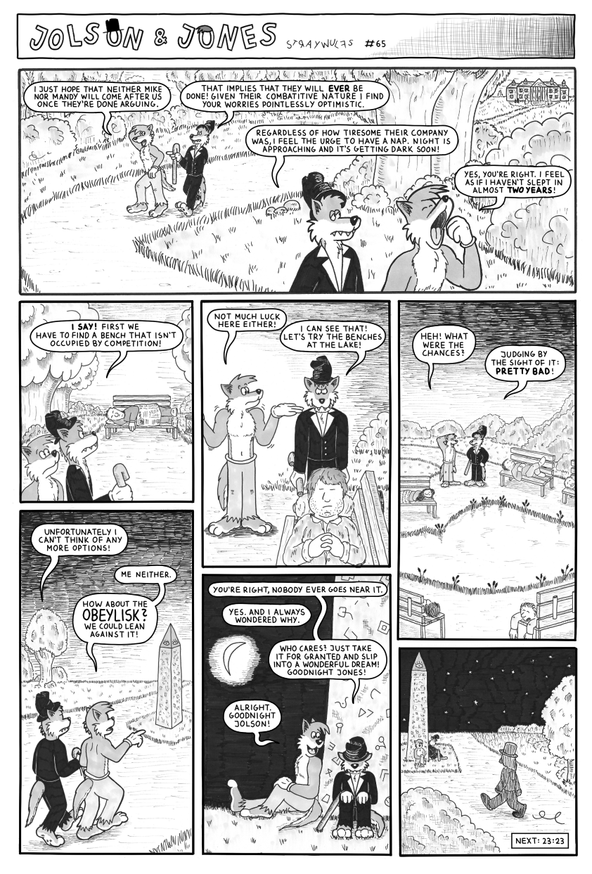 Jolson & Jones #65 - A Kingdom For A Bench Or Two