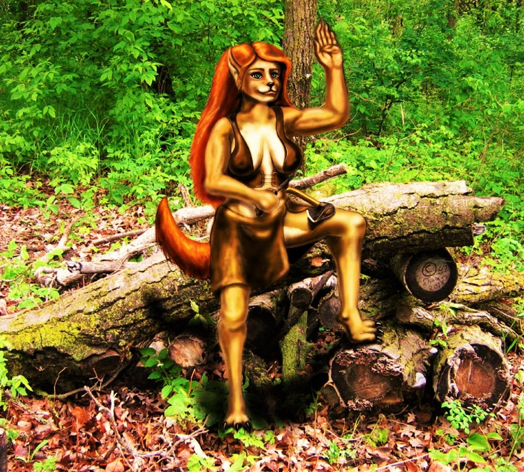 Girl with a hatchet