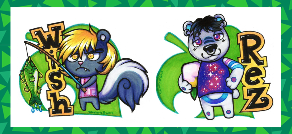 Most recent image: Wish & Rez - Animal Crossing Badges