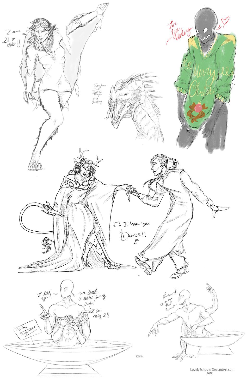 Elder Sketch Page Commission