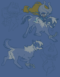 Wolf Link & Midna