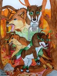 Des loups en Automne ...