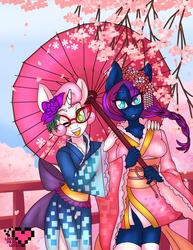 Pixel and Silhouette Kimono Commission