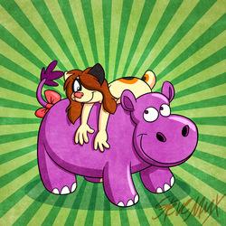 """""""...And hippopotamuses like me too!"""""""
