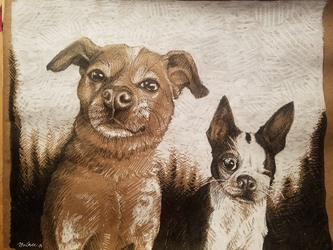 Pet Portrait: Prudence and Piglet