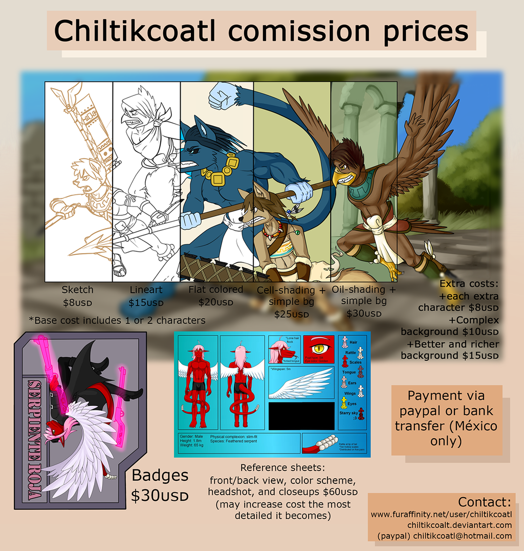 Featured image: Chiltikcoatl's comission prices sheet 2015