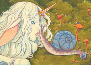 Lilith and the Snails ACEO