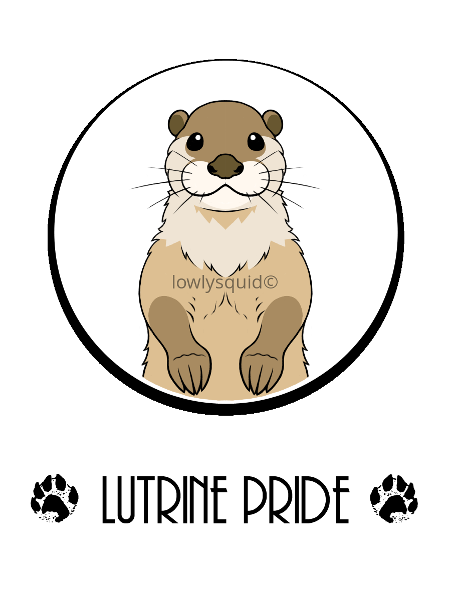 Lutrine Pride Badge
