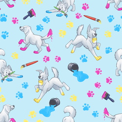 Paint Pups Pattern