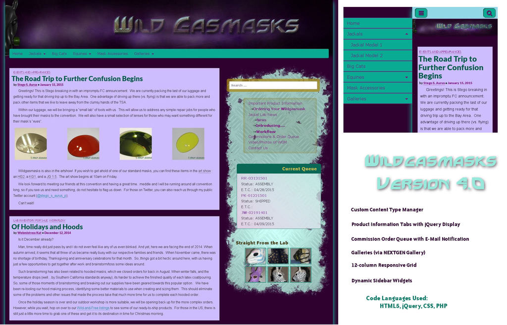 Wild Gasmasks Version 4.0 Layout and Design