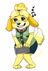 Animal Crossing Isabelle Sticker Art