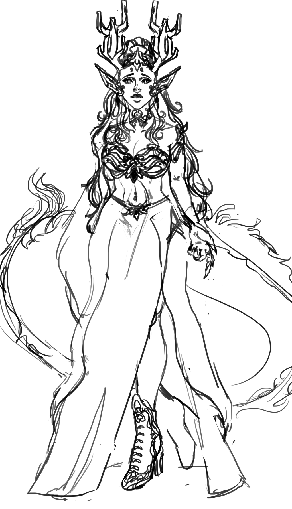 dragon design sketch