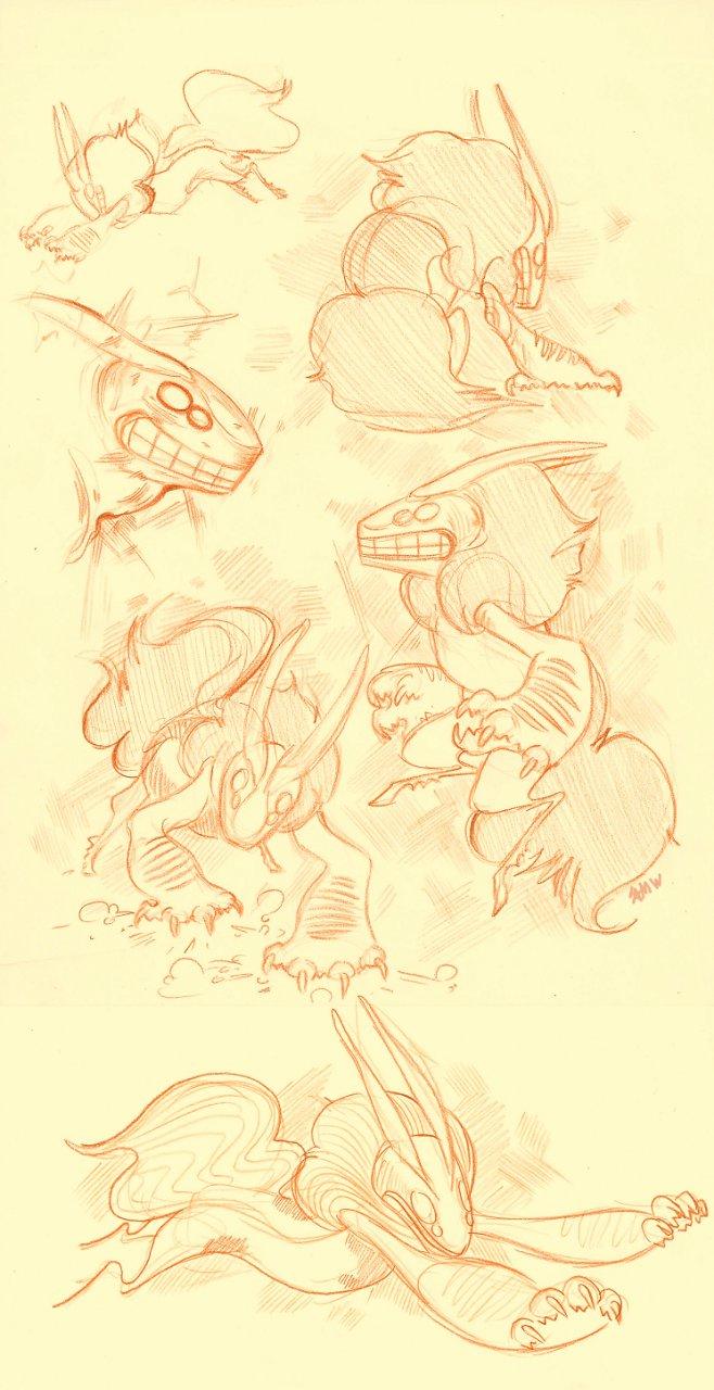 Vantage- Gesture drawings