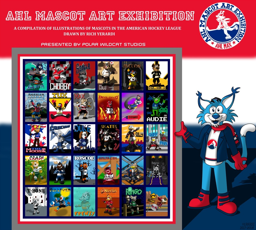 AHL MAX Mascot Collage (Updated)