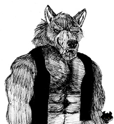 Inktober 2019 #22: Werewolf in A Vest