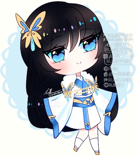 Atedarian Saga: Butterfly Sapphie Chibi