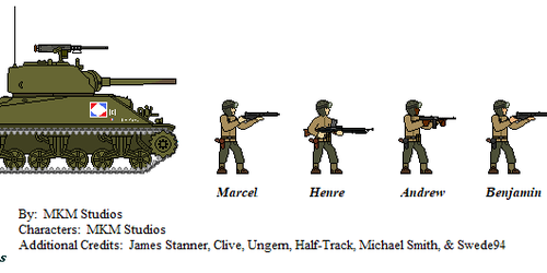 Free French Sherman Crew