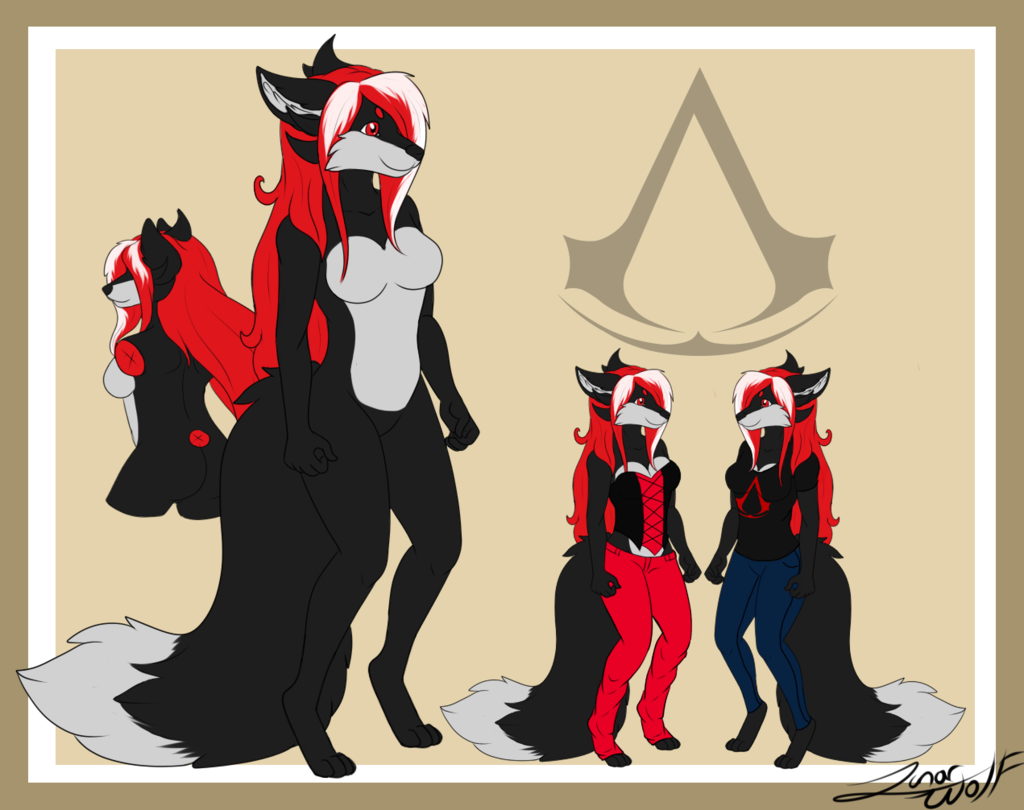 Leilah Ref Sheet by Lunarwolfie