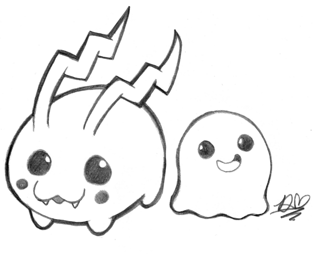 Tokomon and Poyomon