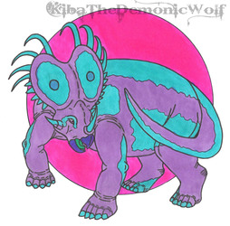 Neon Dinosaurs 1 - Styracosaurus