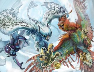 Sora & Zarya - Dive and Seek by Kullen
