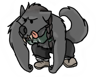 Fitness werewolf is fit