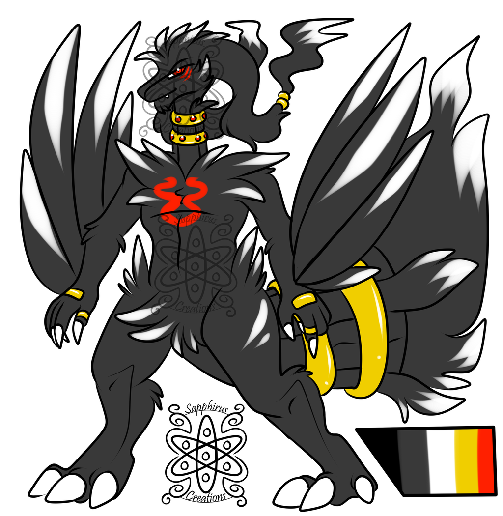 Male Shiny Black Reshiram +Design+ (SOLD)