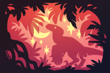 Stargazing Dino (Red Variant)