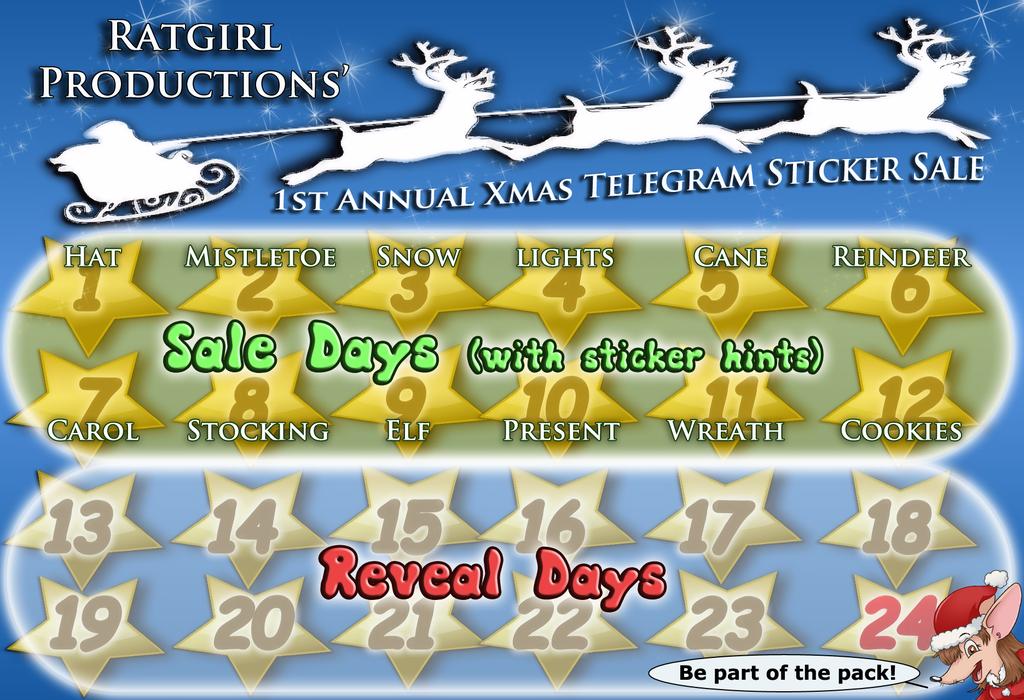 12 Day Only 1st Annual Telegram Sticker YCH Sale