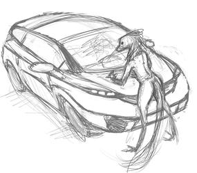 Car Girl(rough concept)