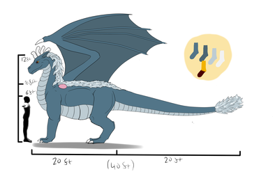 Basic reference of a Sock Dragon