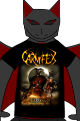 Me in a Carnifex T-Shirt