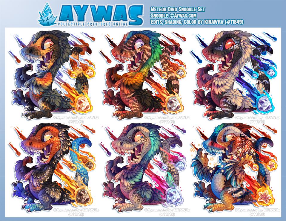 Aywas: Dino Meteor Snoodle Set
