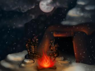 Camping in Skyrim [by Machinari]