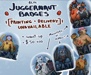 BLFC Juggernaut Badge Commissions CLOSED