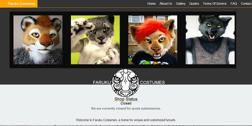 Faruku Costumes Web Design