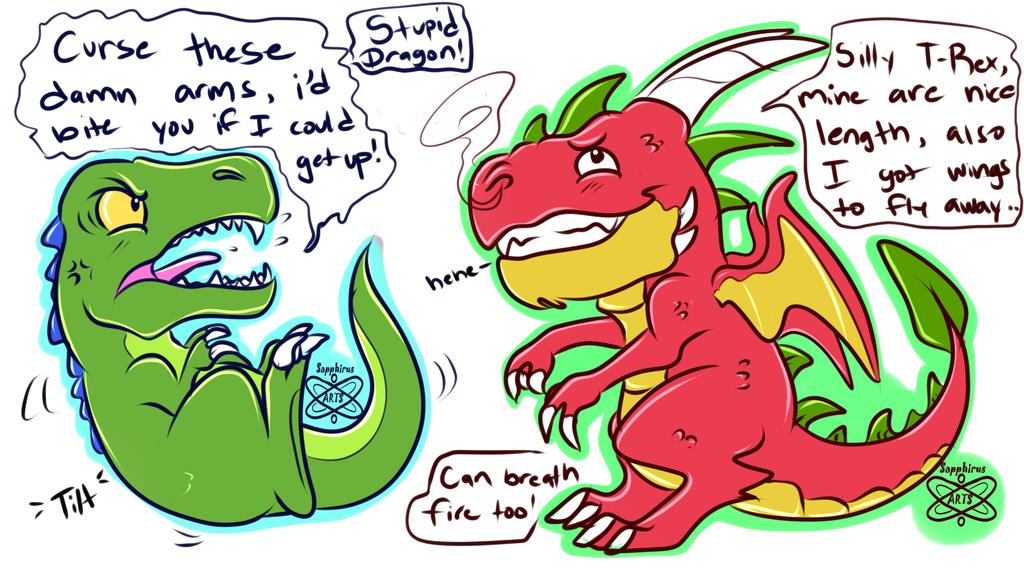 Dinosaur vs Dragon 2