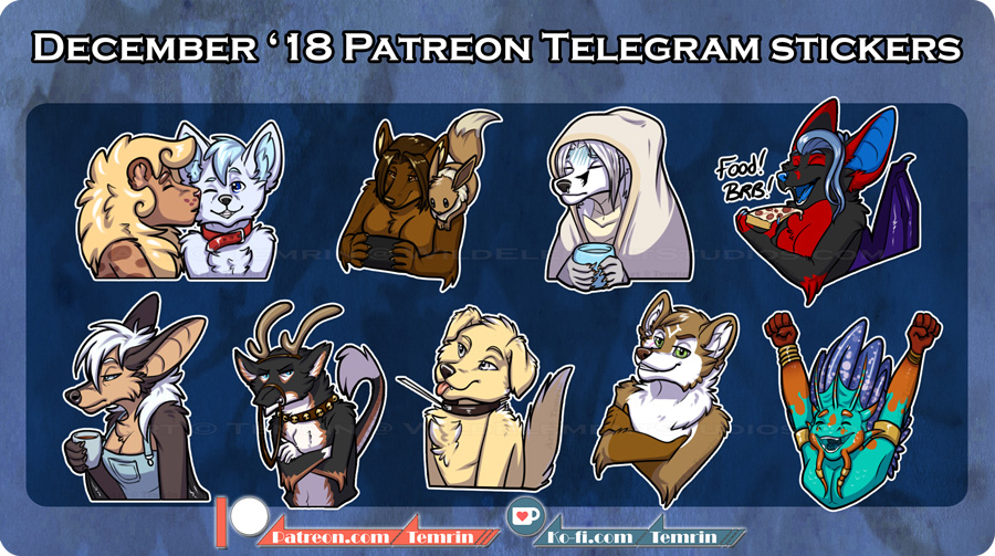PTR December Telegram Stickers