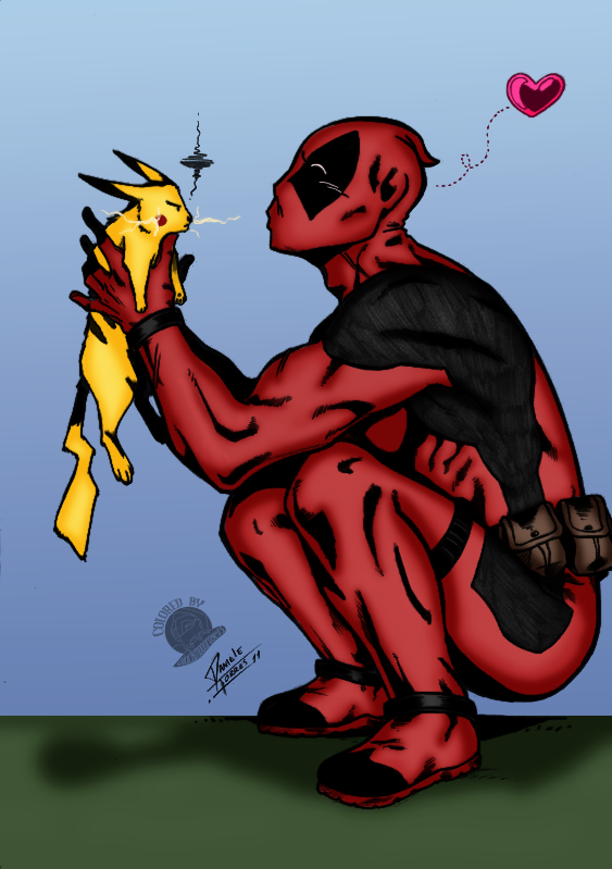 Deadpool and Pikachu
