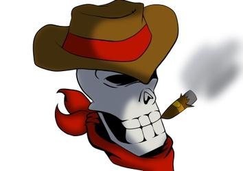 Ghost Smokin A Cigar