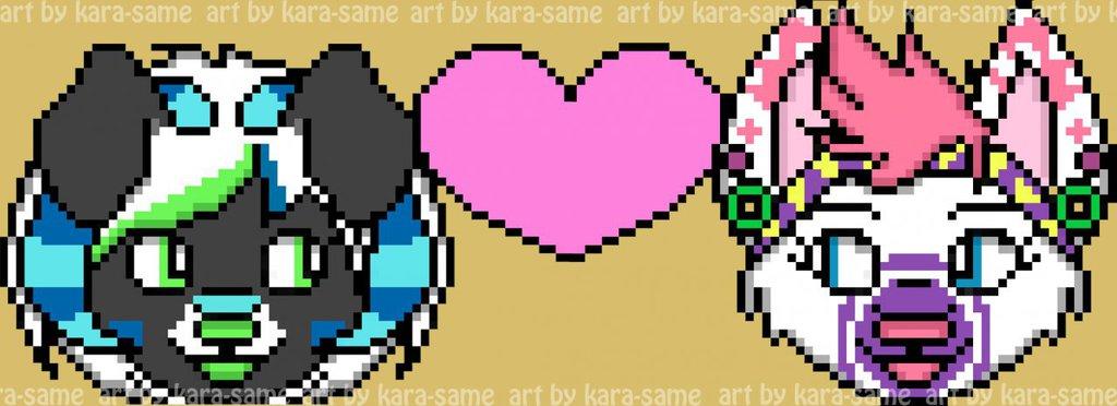 Marcii-the-fennecFOX and misfitroo pixel icon