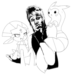 Papa Roach Commission from Deviantart (Lines Only)