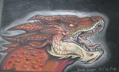Smaug - Chalk Art 2014