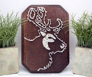 String art: Reindeer