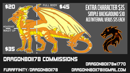 Commission Prices | 2021 |