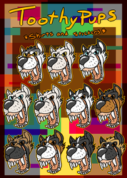 Toothy Pup Shirts and Stickers on Redbubble