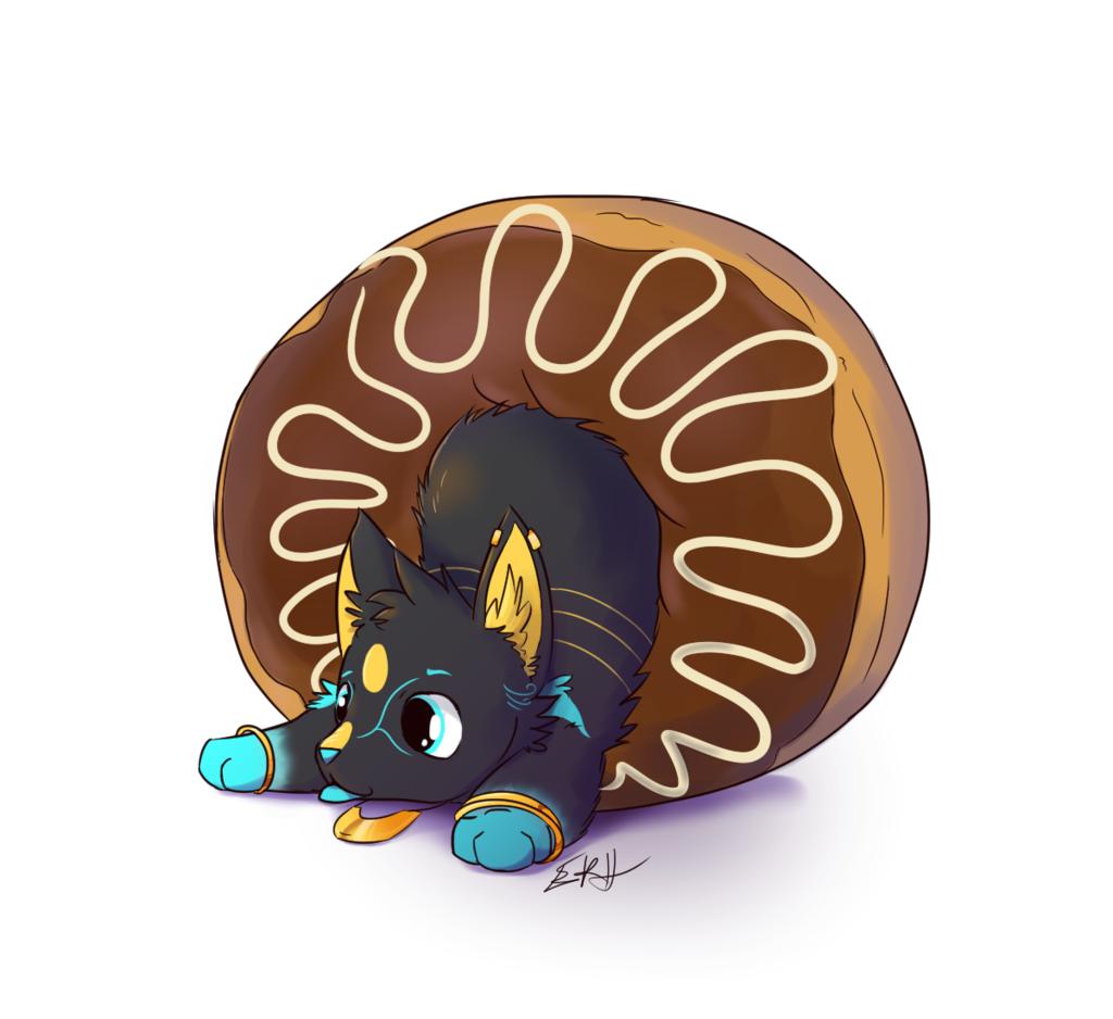 Tobi in a donut [com]