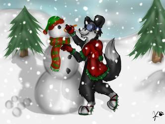 Bows Snowman
